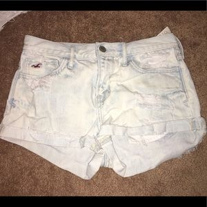 Hollister high waisted distressed jean shorts